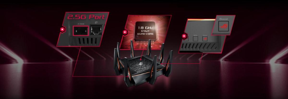 Router wifi ASUS GT-AX11000 Chuẩn AX11000 - Wifi 6 8