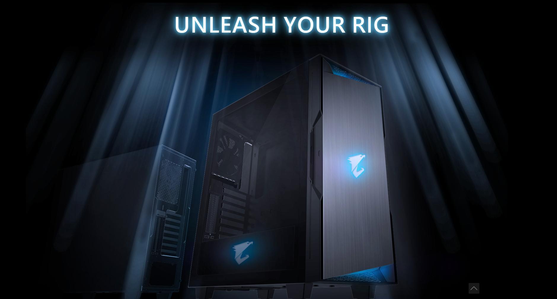 Vỏ Case Gigabyte GB-AC300G Tempered Glass Gaming (Mid Tower/Màu Đen/Led RGB) thiết kế vô cùng đẹp mắt