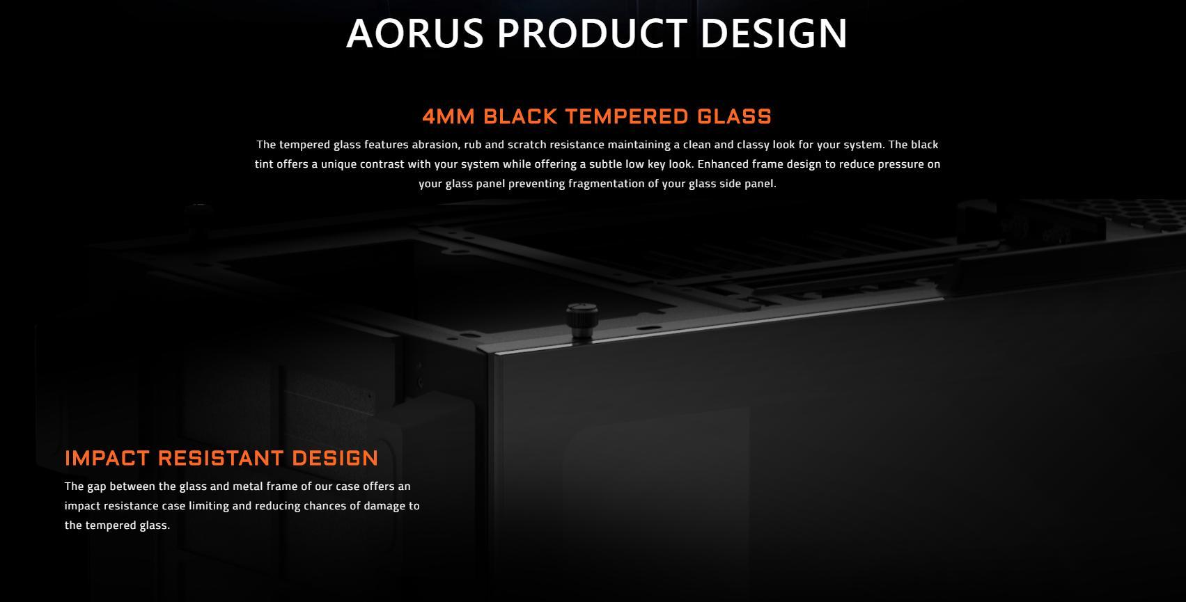 Vỏ Case Gigabyte GB-AC300G Tempered Glass Gaming (Mid Tower/Màu Đen/Led RGB) tương thích với phần mềm RGB Fusion, đồng bộ màu với các thành phần khác của Aorus