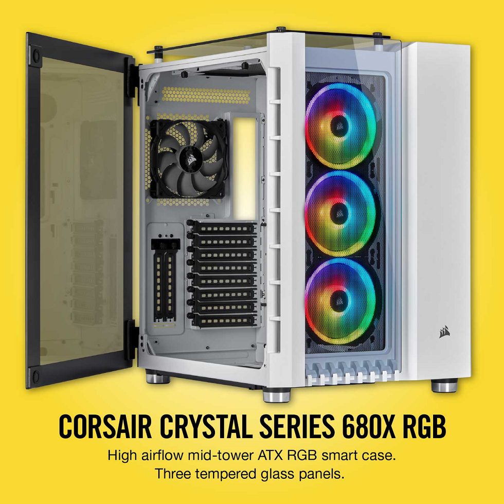 Case Corsair  680X RGB TG (Mid Tower/Màu Trắng) giới thiệu