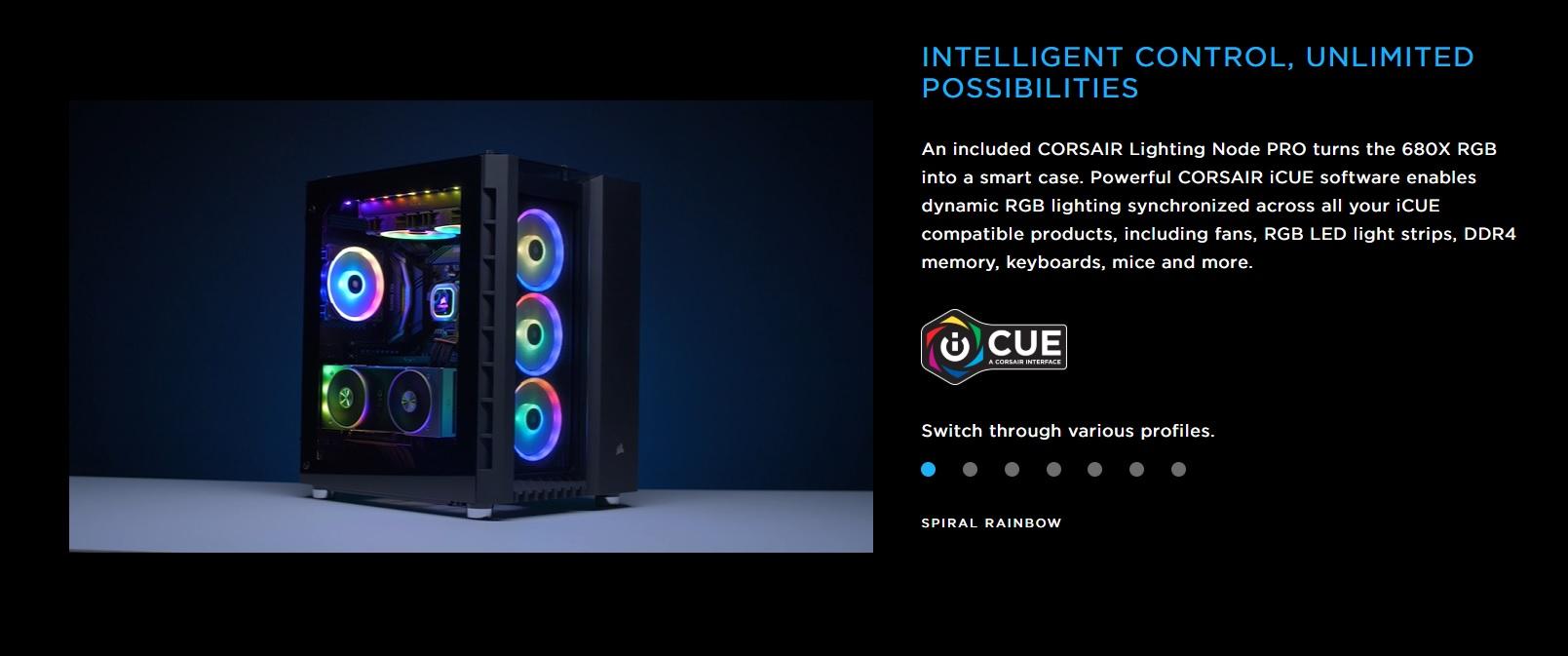 Case Corsair  680X RGB TG (Mid Tower/Màu Trắng) giới thiệu 4