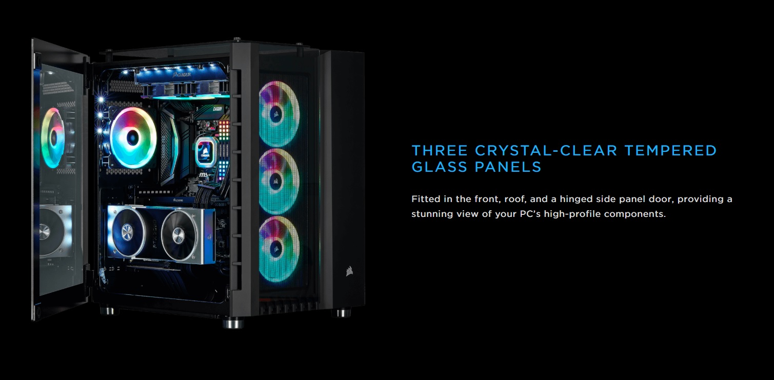 Case Corsair  680X RGB TG (Mid Tower/Màu Trắng) giới thiệu 6