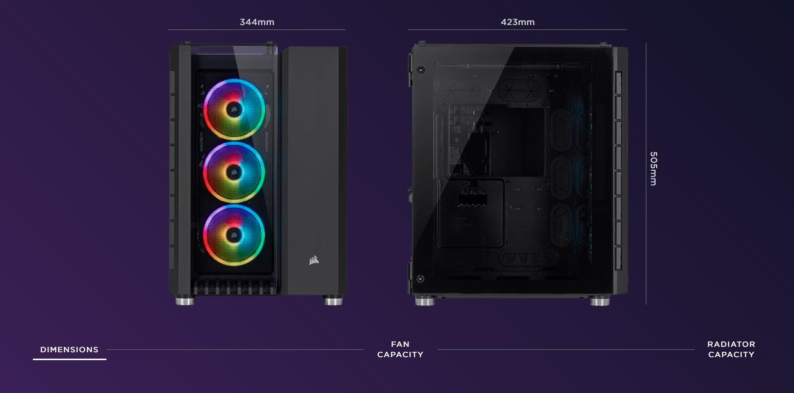 Case Corsair  680X RGB TG (Mid Tower/Màu Trắng) giới thiệu 7