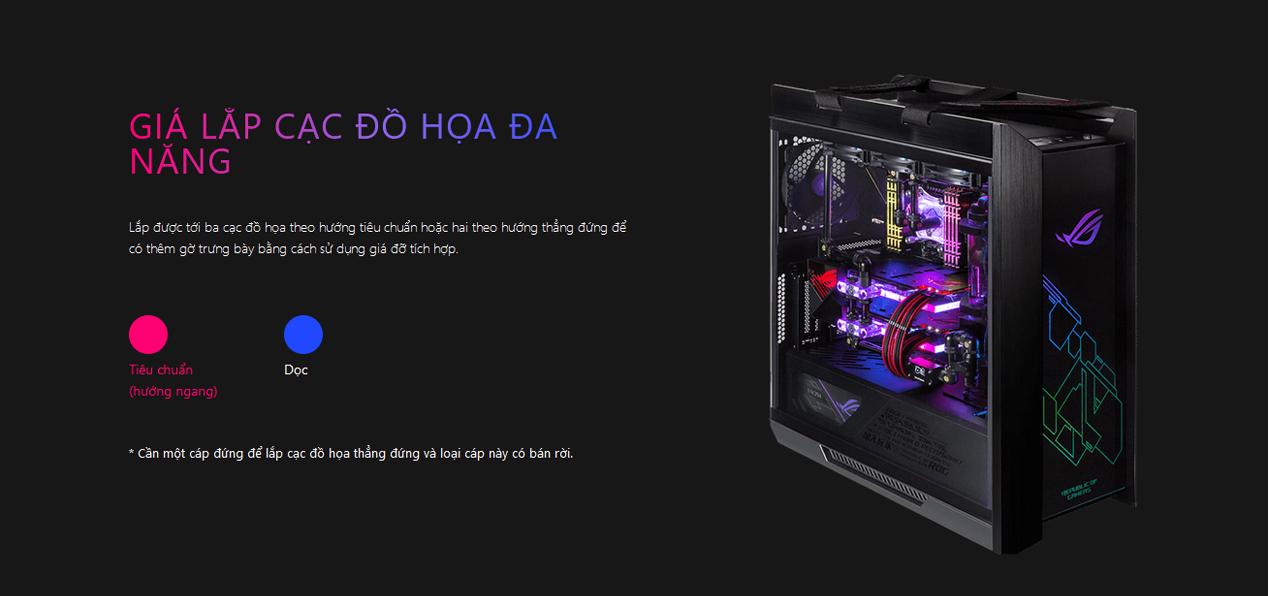 Vỏ Case Asus ROG Strix Helios GX601 Tempered Glass Gaminggiới thiệu 5