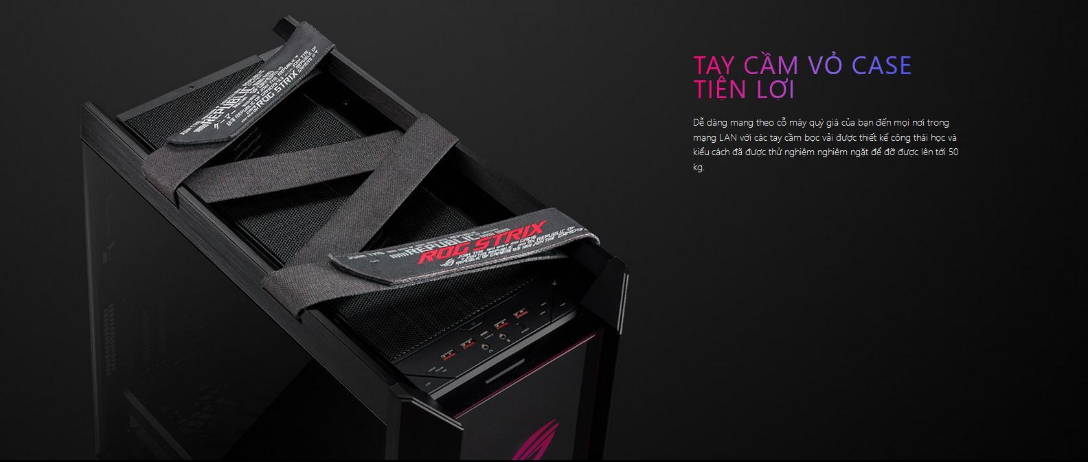 Vỏ Case Asus ROG Strix Helios GX601 Tempered Glass Gaminggiới thiệu 8