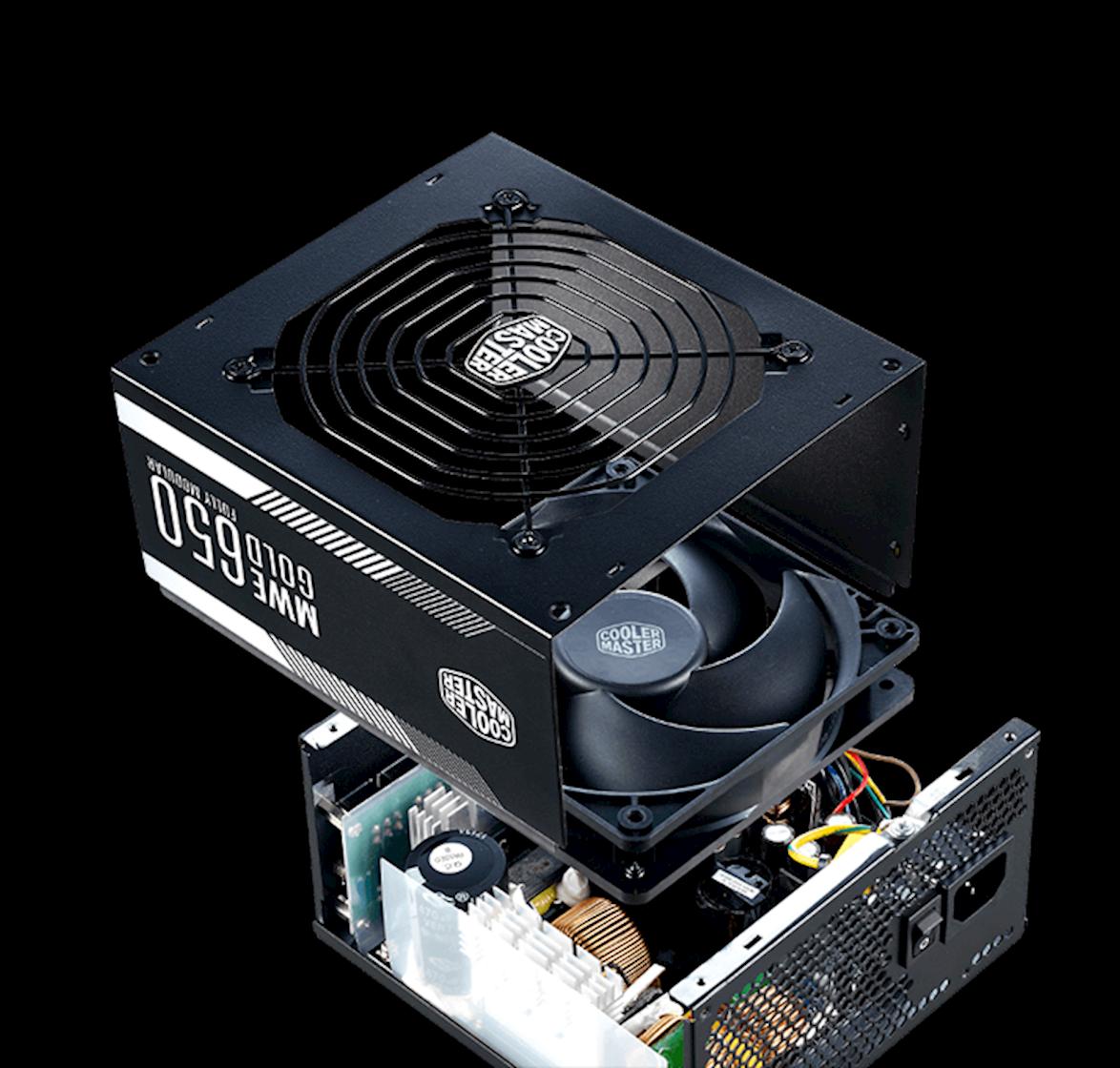 Tổng thể Nguồn Cooler Master MWE Gold 650 (80 Plus Gold Full Modular/Màu Đen)