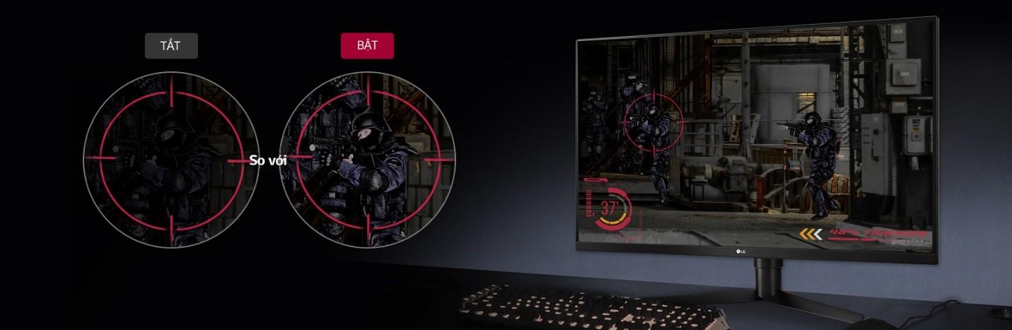 Màn hình LG 32GK650F-B điểm ngắm
