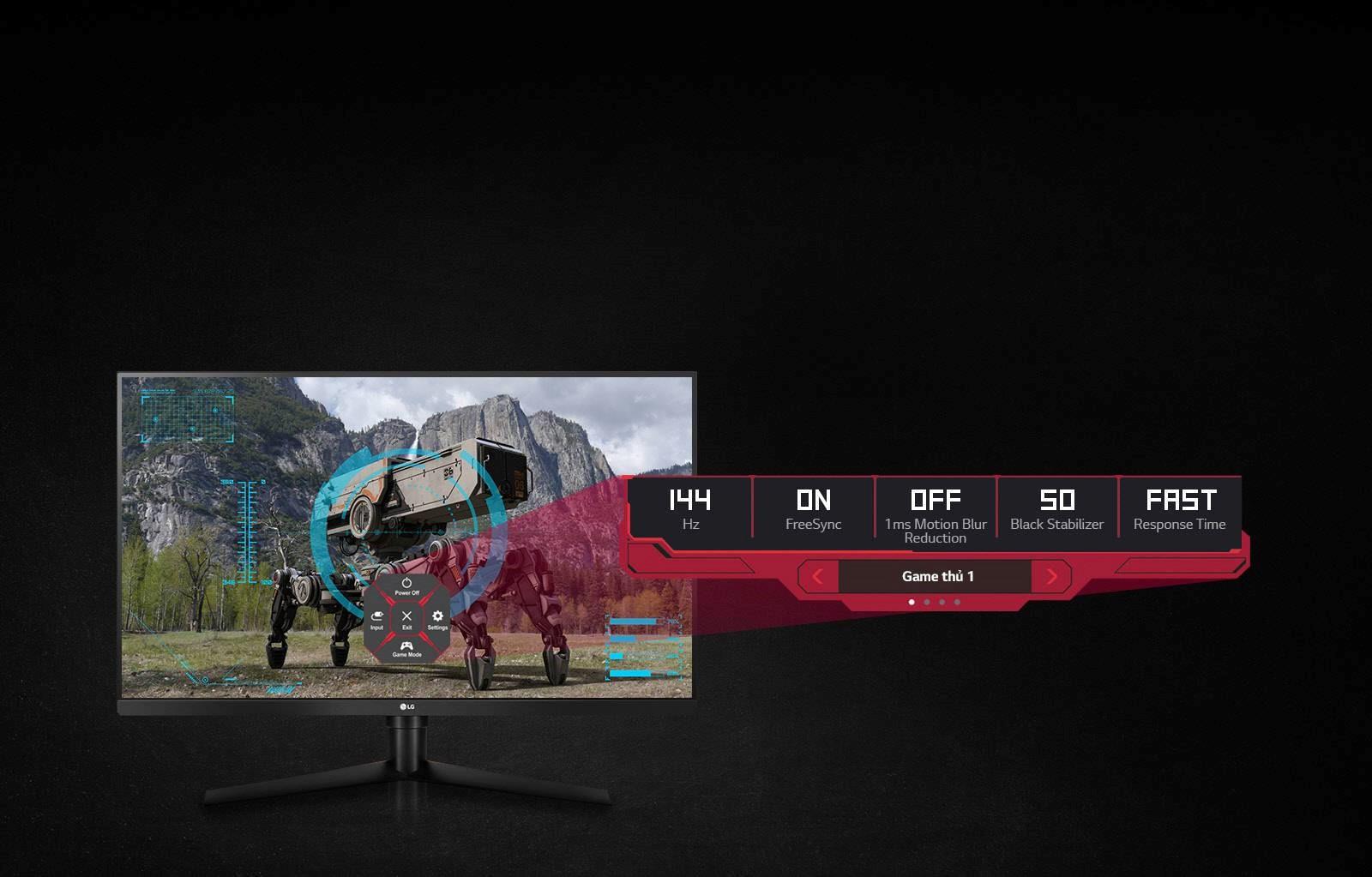 Màn hình LG 32GK650F-B dynamic action