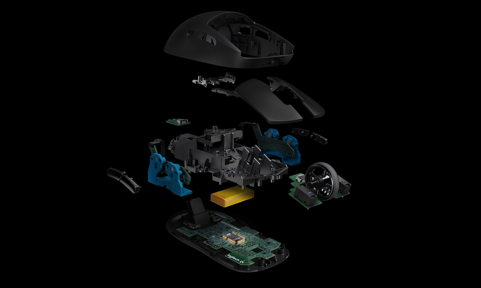 Chuột chơi game Logitech G Pro Wireless Gaming có trọng lượng siêu nhẹ chỉ 80g
