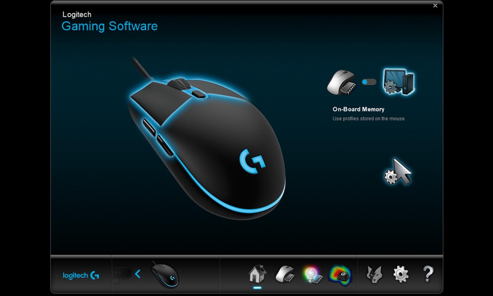 Chuột chơi game Logitech PRO HERO Gaming có thể lưu trữ đến 5 profile cấu hình