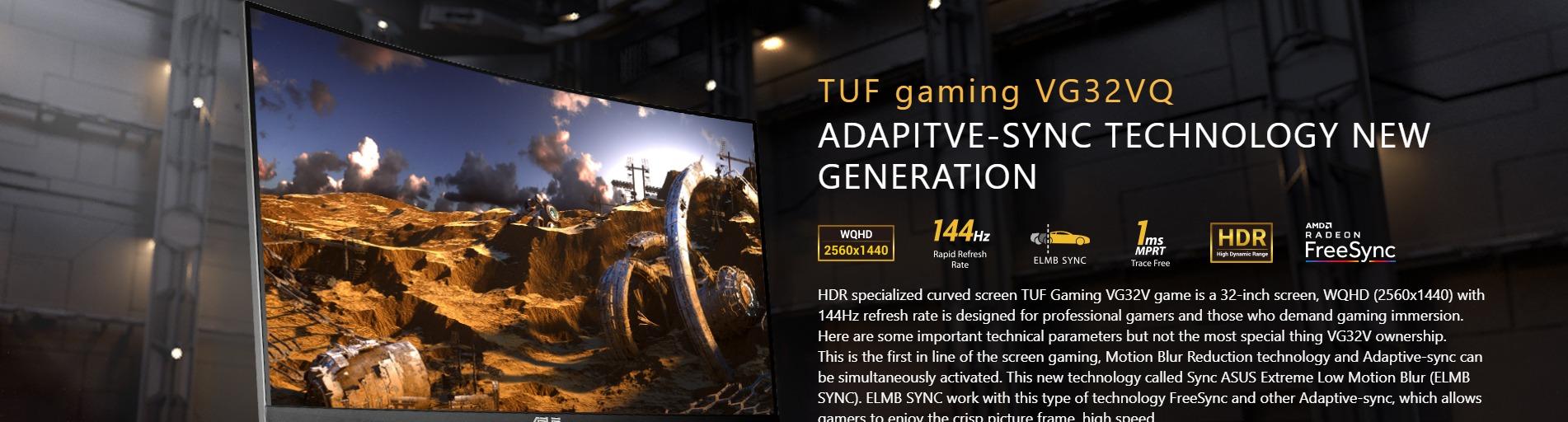 Màn hình Asus TUF VG32VQ adaptive sync