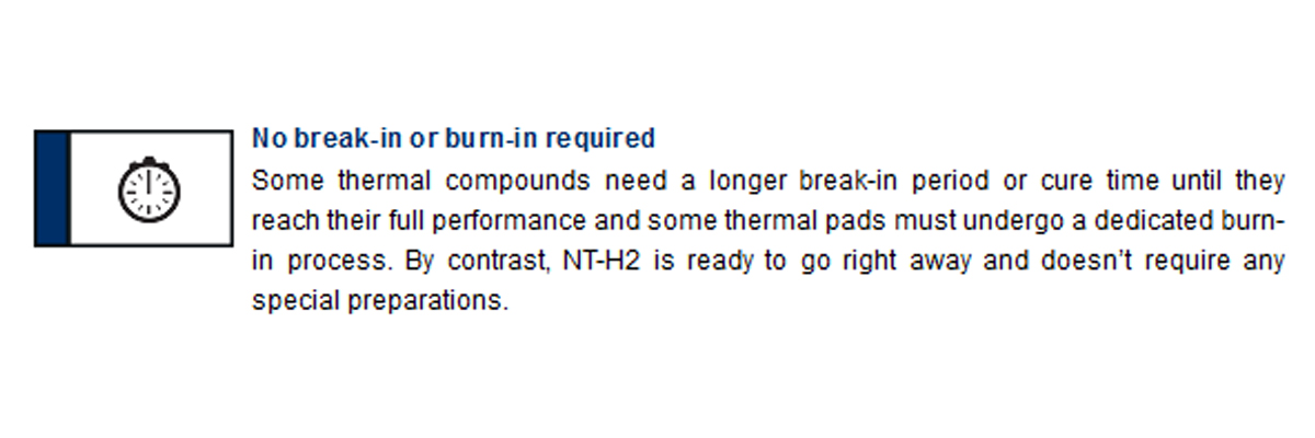 Keo tản nhiệt NOCTUA NT-H2 3.5g không cần phải chạy thử trước