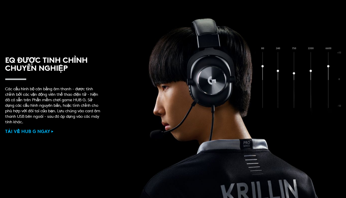 Tai nghe Gaming Logitech G Pro X | HANOICOMPUTER