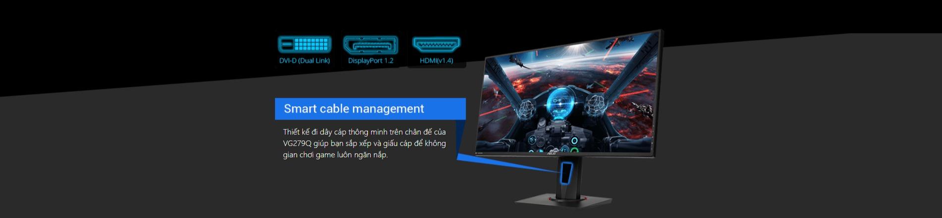 Màn hình Asus VG279Q viền mỏng