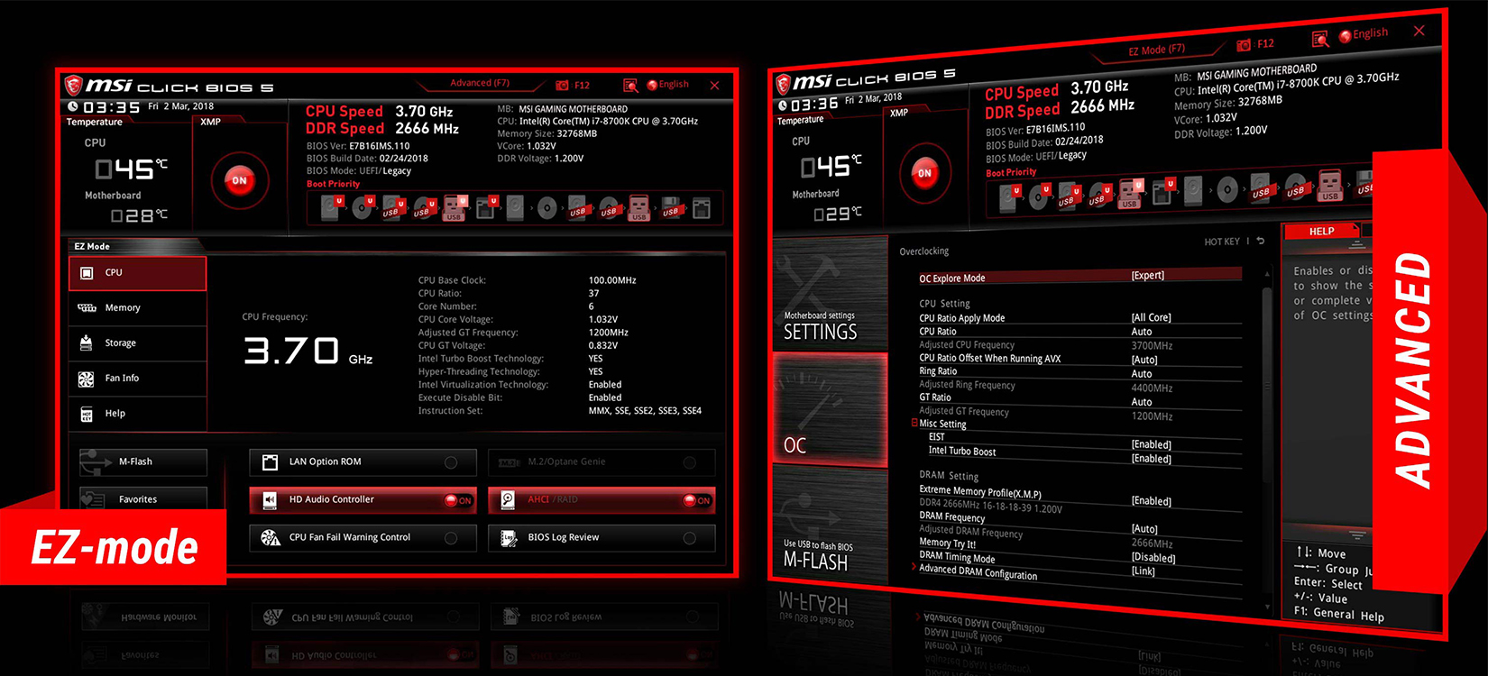 BIOS Mainboard MSI B365M Mortar