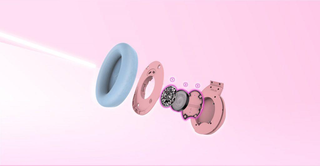 Tai nghe ASUS ROG Strix Fusion 300 Pink trang bị buồng âm thanh độc quyền