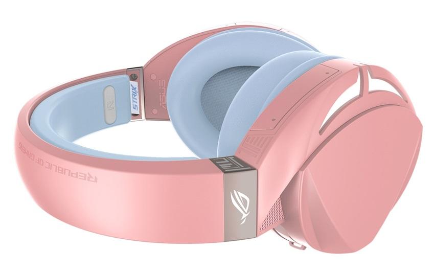 Tai nghe ASUS ROG Strix Fusion 300 Pink trang bị đệm tai chất liệu cao cấp