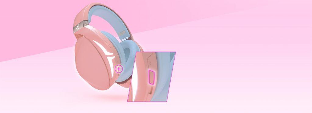 Tai nghe ASUS ROG Strix Fusion 300 Pink tích hợp công nghệ âm thanh vòm 7.1