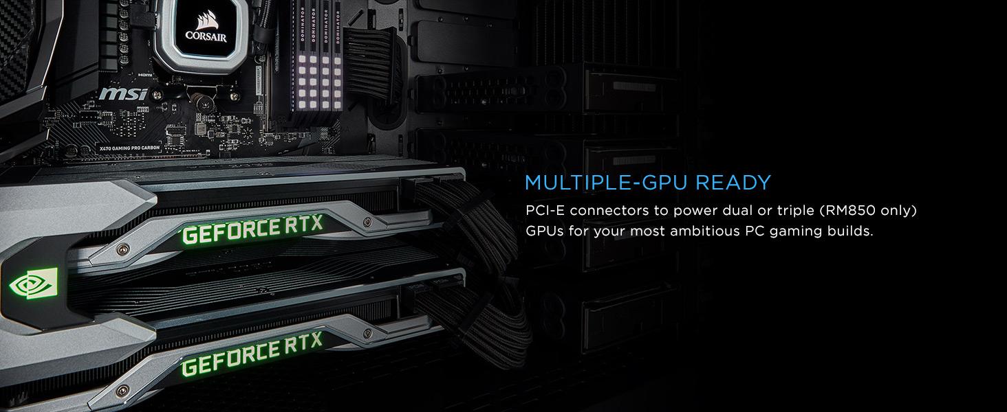 Nguồn Corsair RM Series RM750 - 750W (80 Plus Gold Certified Full Modular/Màu Đen) hỗ trợ 2 GPU