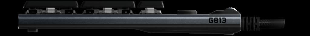 Bàn phím cơ Logitech G813 Lightsync RGB Mechanical Romer G Linear Gaming Keyboard Black có thiết kế siêu mỏng