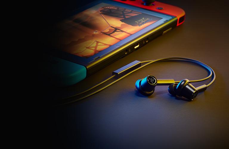 Tai nghe nhet tai gaming Razer Hammerhead Duo RZ12-02790200-R3M1 tương thích với nintendo switch