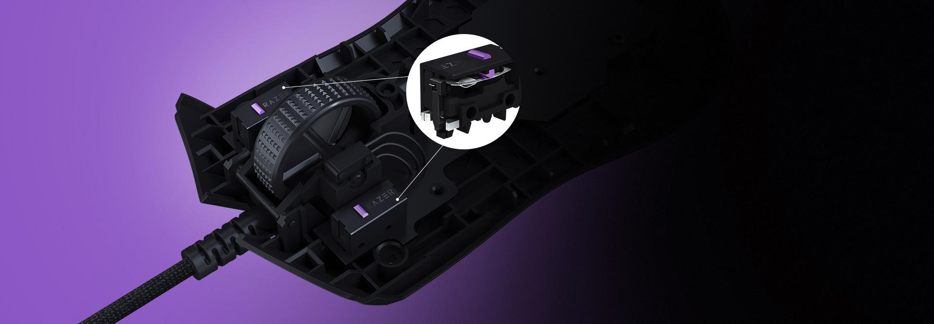 Chuột chơi game Razer Viper Gaming sử dụng switch chuột quang học tiên tiến