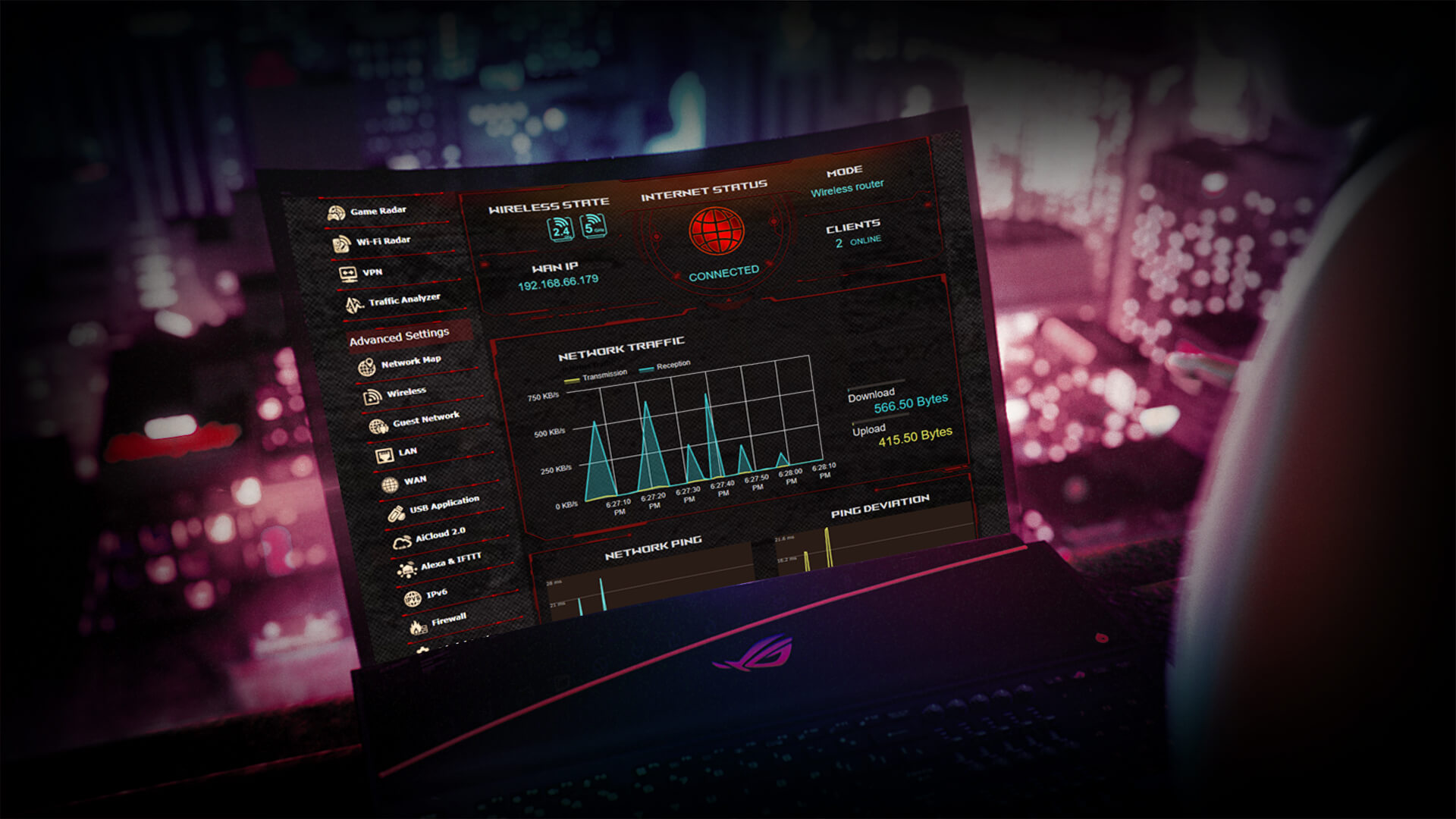 Router wifi Gaming ASUS ROG Rapture GT-AC2900 2
