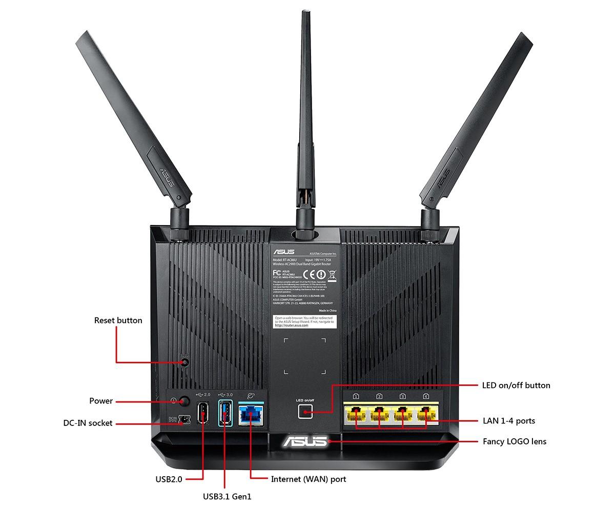 Bộ Mesh wifi ASUS RT-AC86U (2-Pack) AC2900, Gaming Router wifi , MU-MIMO, AIMESH 2