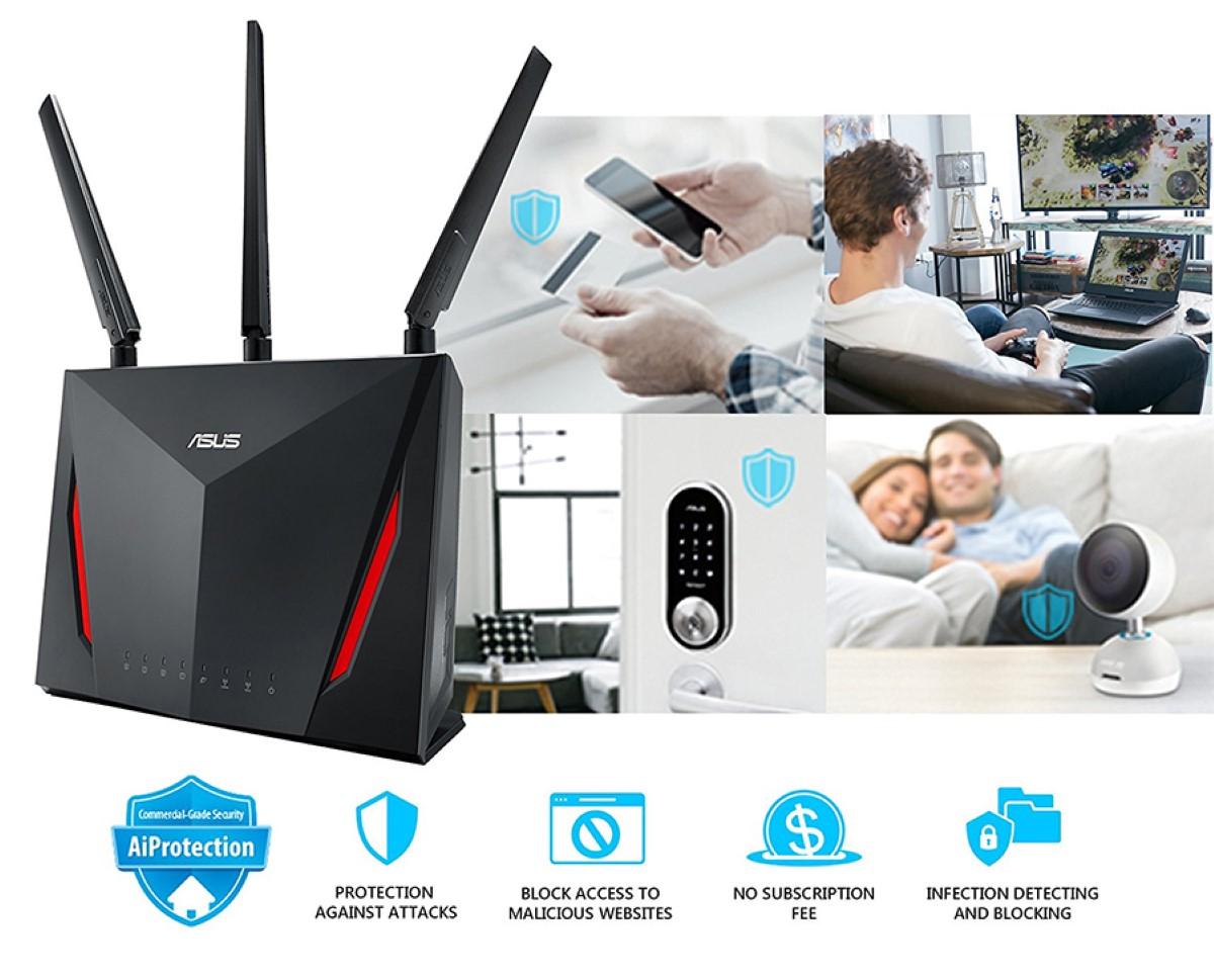Bộ Mesh wifi ASUS RT-AC86U (2-Pack) AC2900, Gaming Router wifi , MU-MIMO, AIMESH 4