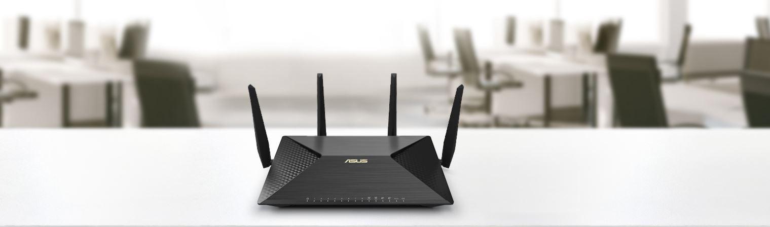 Router wifi ASUS BRT-AC828 (Chuẩn Doanh Nghiệp) AC2600 MU-MIMO, 2 cổng WAN VPN, bảo vệ mạng AiProtection