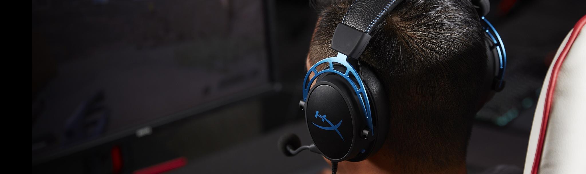 Tai nghe Kingston HyperX Cloud Alpha S Blue (HX-HSCAS-BL/WW) tích hợp công nghệ âm thanh 7.1