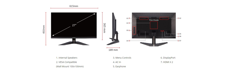 Màn hình Viewsonic VX2758-2KP-MHD-10