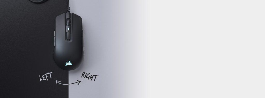 Chuột chơi game Corsair M55 RGB Pro Black (CH-9308011-AP) có thiết kế nhỏ gọn