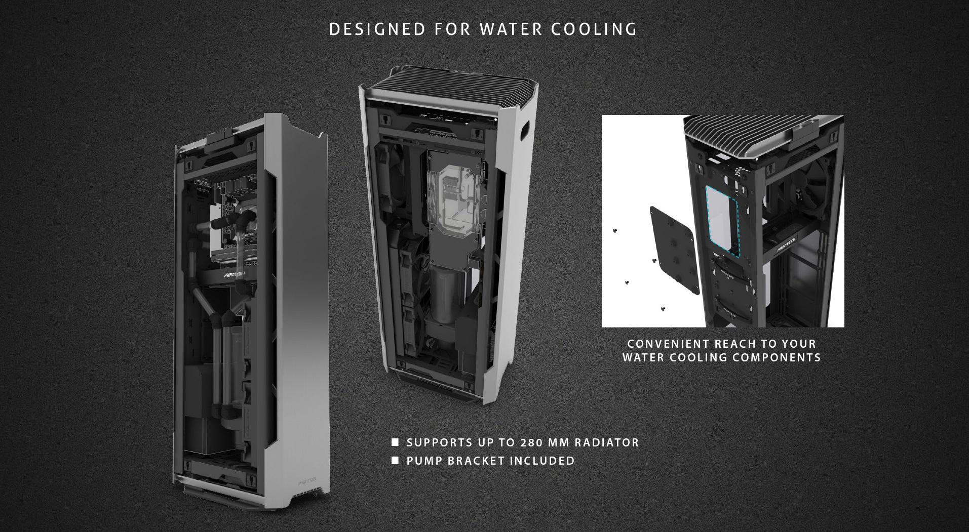 Phanteks Enthoo Evolv Shift X Tempered Glass Windows thiết kế cho tản nhiệt nước