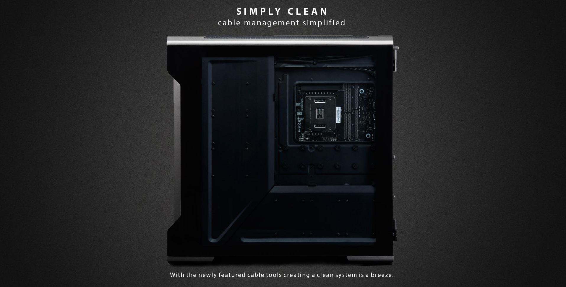 Phanteks Enthoo Evolv X ATX Case, Tempered Glass Window - Black gọn gàng