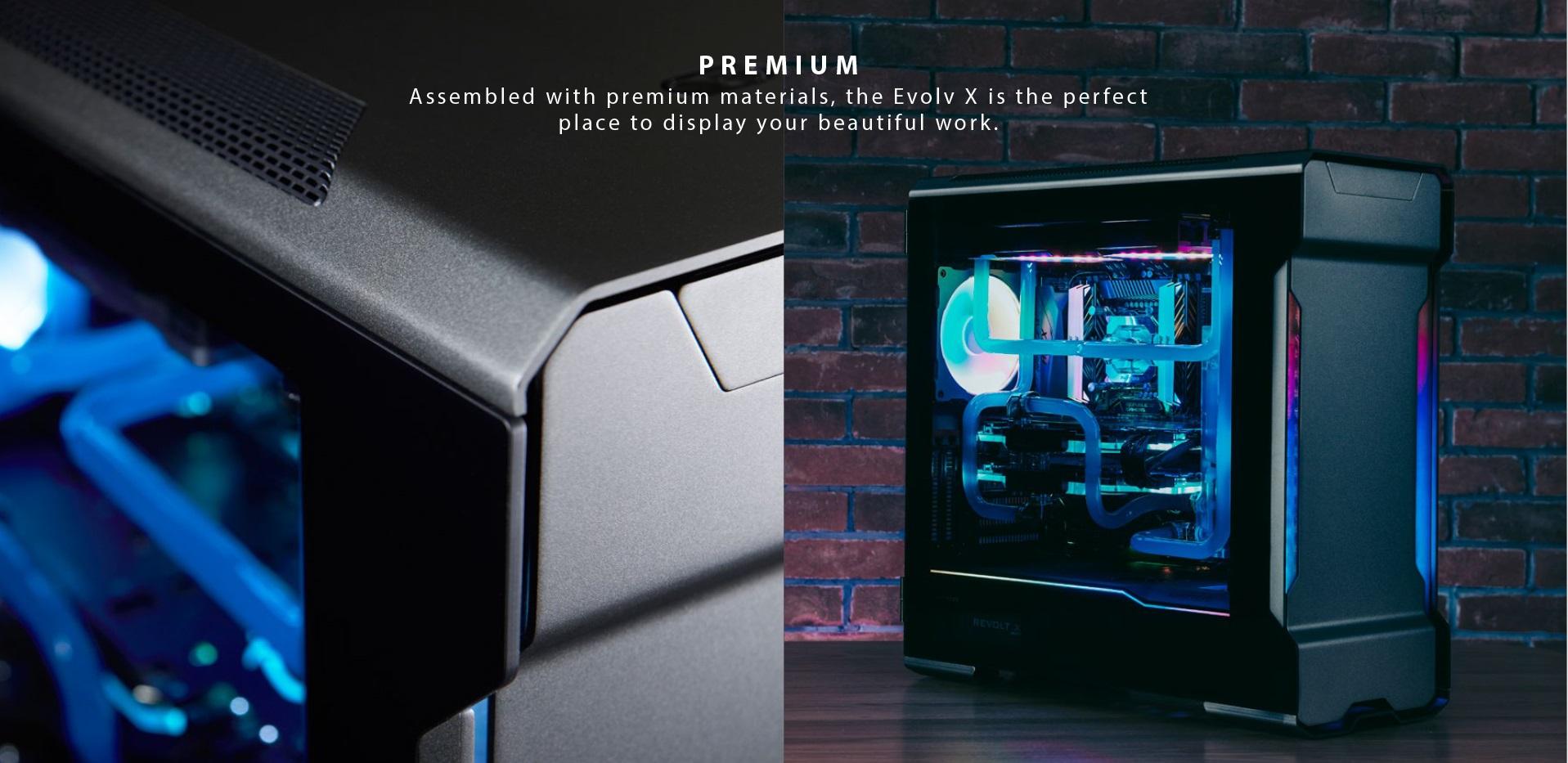 Phanteks Enthoo Evolv X ATX Case, Tempered Glass Window - Black tổng quan 2