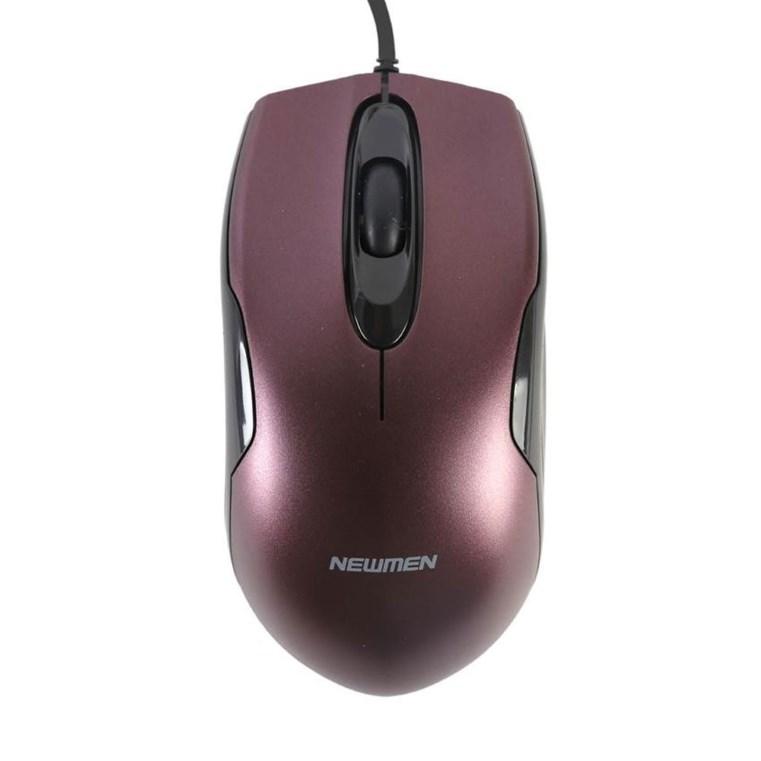 Chuột Newmen M266 USB Black có thiết kế gọn gàng, tinh tế