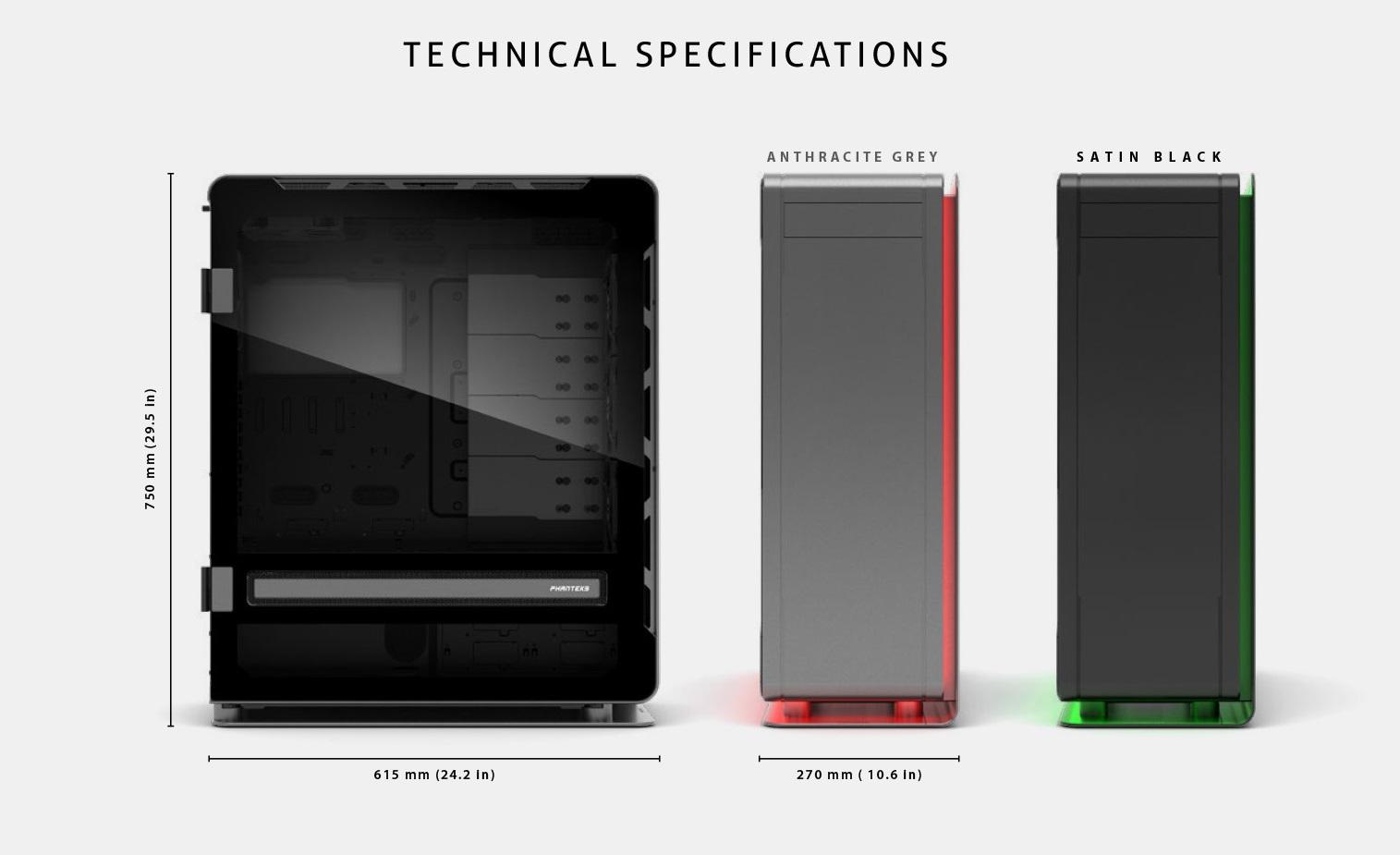 Phanteks Enthoo Elite Extreme RGB Lighting, Tempered Glass Window, Dual System Support giải pháp tản nhiệt đỉnh cao