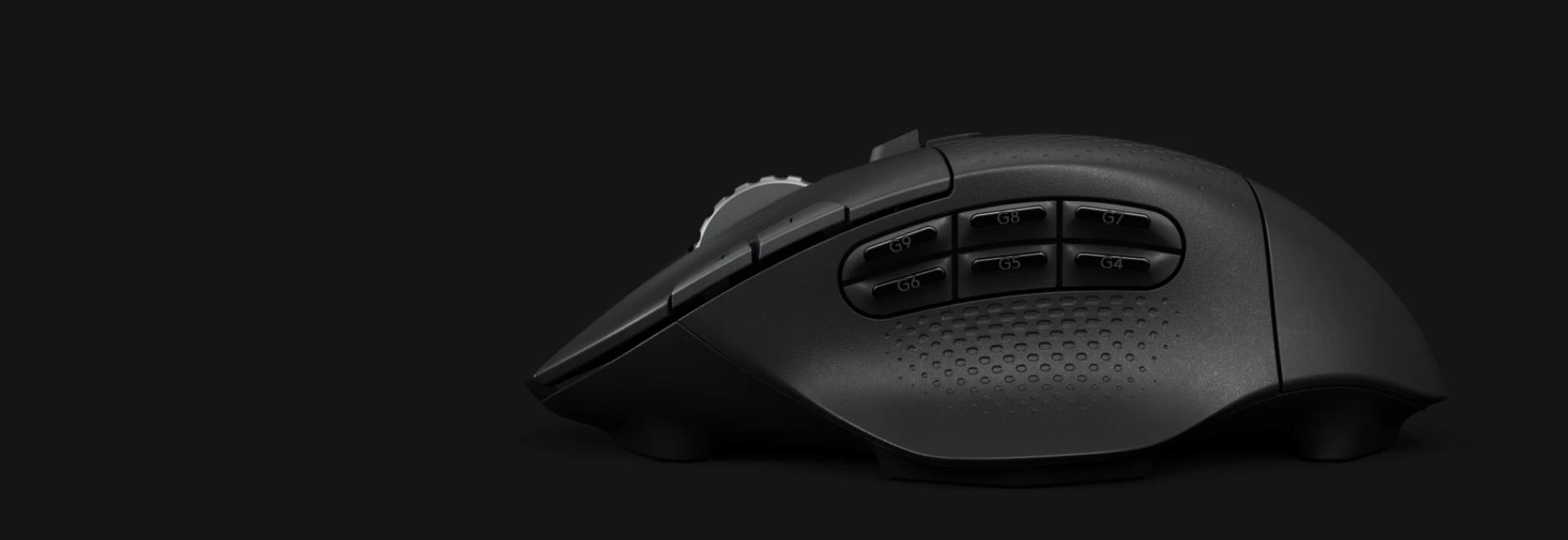 Chuột chơi game Logitech G604 Lightspeed Wireless HERO Gaming Black tích hợp rất nhiều nút có thể lập trình