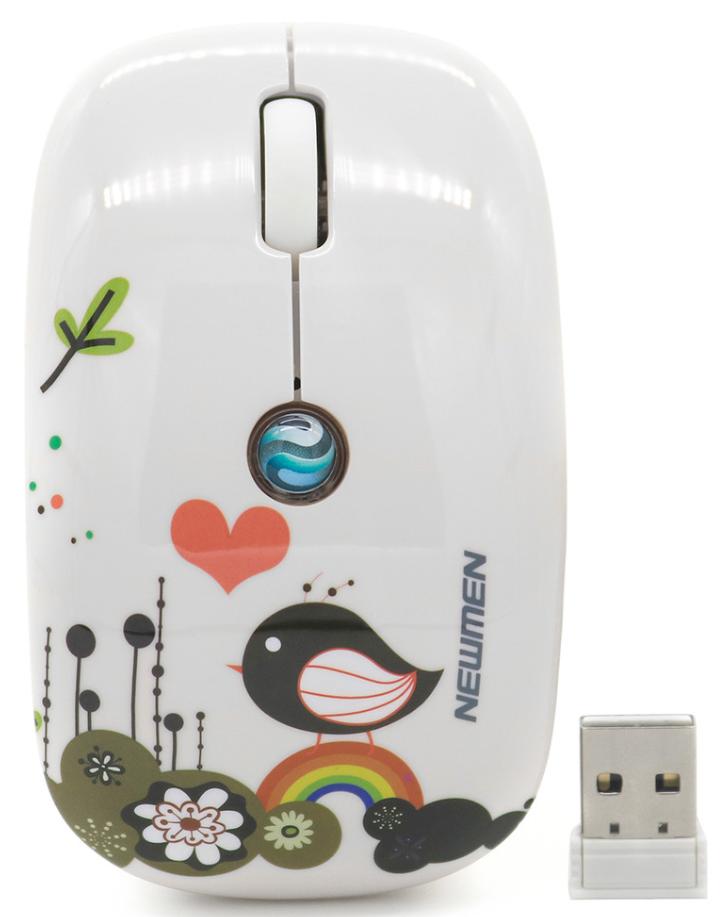 Chuột không dây Newmen F201 Wireless White có thiết kế nhỏ gọn, tinh tế