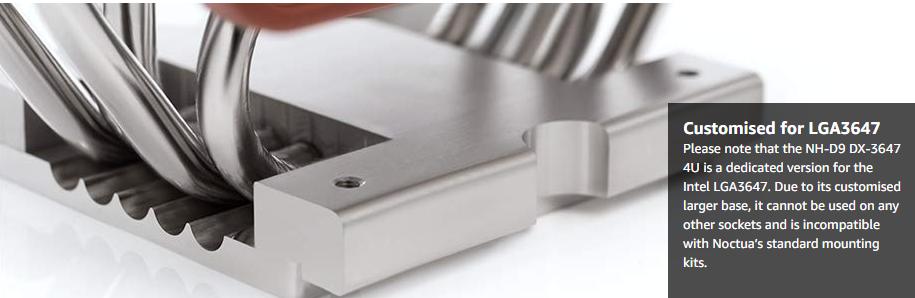 Tản nhiệt khí Noctua NH-D9 DX-3647 4U ( NH-D9 DX-3647 4U ) với keo tản nhiệt Noctua nhiệt được trét sẵn cho tản nhiệt đảm bảo độ dày đường liên kết tối ưu và tiết kiệm thời gian khi lắp đặt.