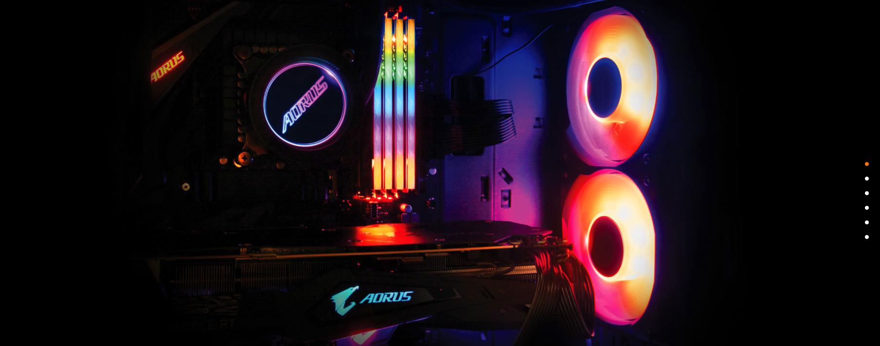 Tản nhiệt nước Gigabyte AORUS LIQUID COOLER 240  sử dụng phần mềm RGB Fusion 2.0 giúp người dùng có thể tuỳ chỉnh hiệu ứng đèn trên logo AORUS đặc trưng