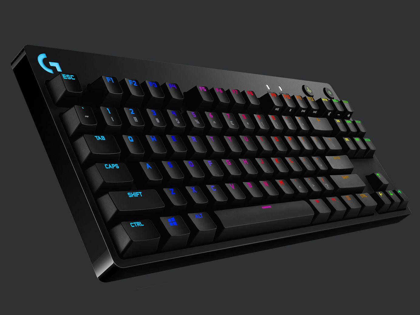 Bàn phím cơ Logitech G Pro X RGB Lightsync GX Clicky Blue Switch tích hợp led RGB cao cấp