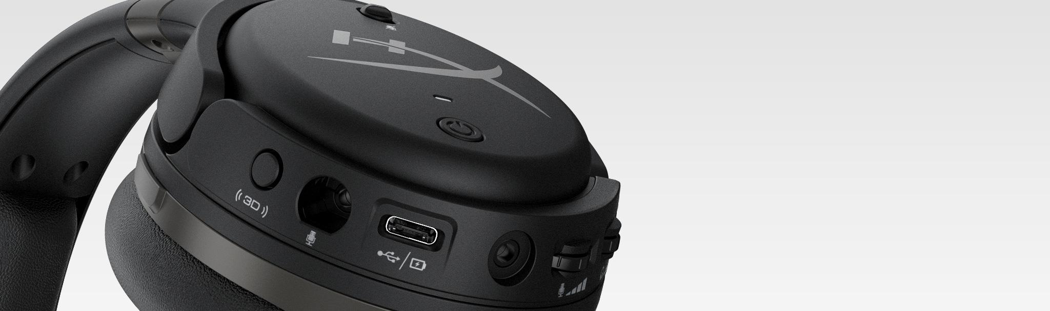 Tai nghe Kingston HyperX Cloud Orbit S Gaming Black (HX-HSCOS-GM/WW) có thể dễ dàng điều chỉnh ngay ở trên củ tai