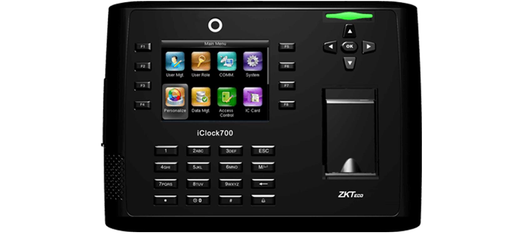 Máy chấm công vân tay và thẻ ZKTeco Iclock 700-1