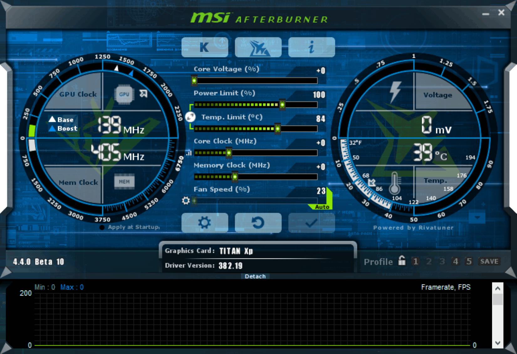 Phần mềm MSI AfterBurner