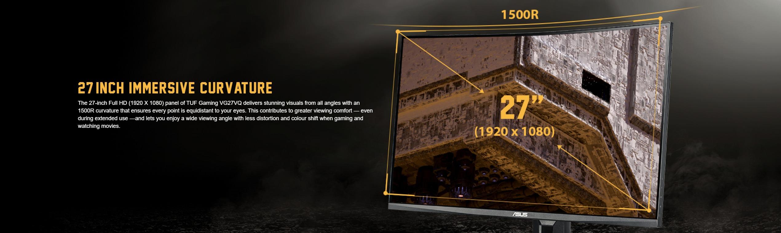 Màn hình ASUS TUF Gaming VG27VQ cong