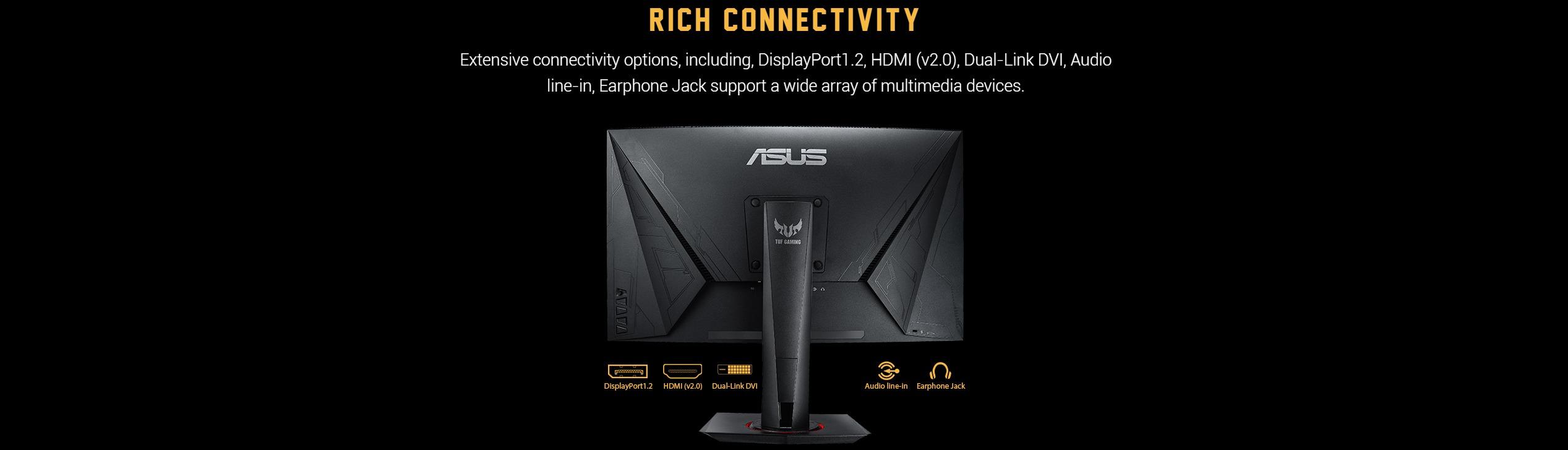 Màn hình ASUS TUF Gaming VG27VQ đa kết nối