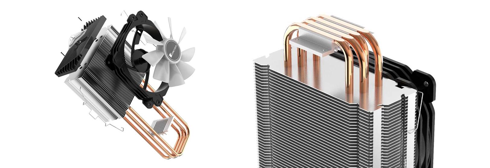 Tản nhiệt khí Jonsbo CR-1000 RGB có hiệu năng tản nhiệt tốt với diện tích lá tản lớn