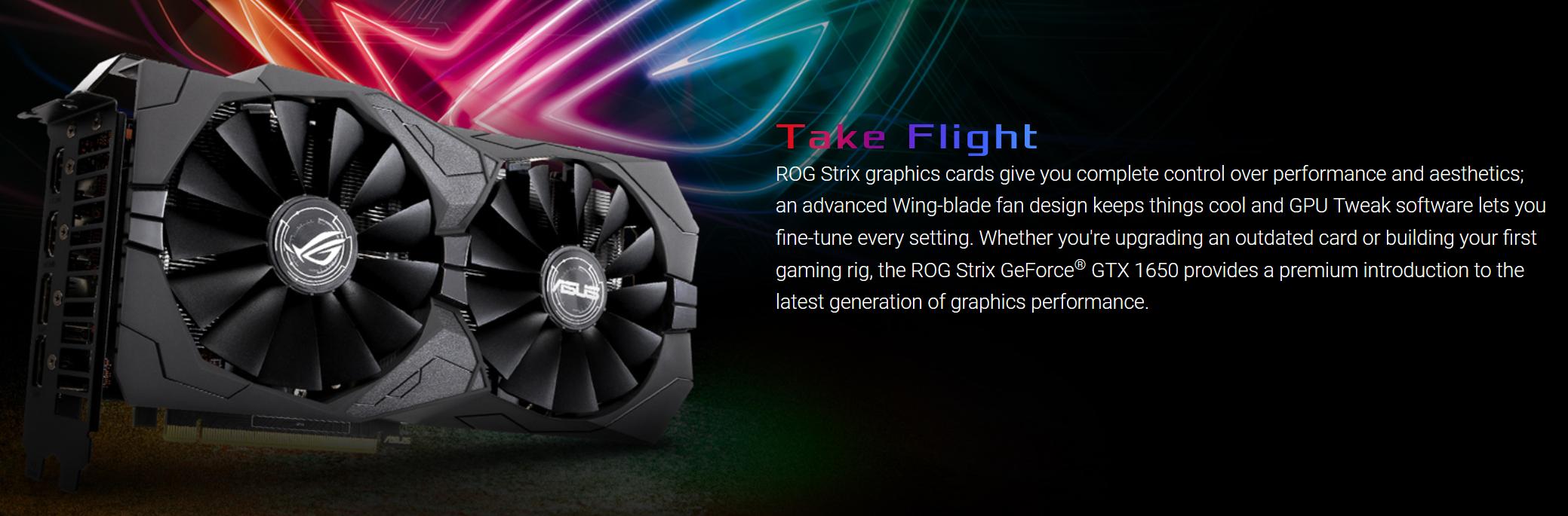 Card màn hình ASUS ROG STRIX GTX 1650 Super-A4G GAMING